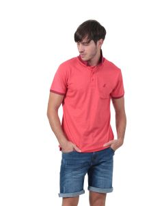 Polo manches courtes Homme GMB rouge chiné