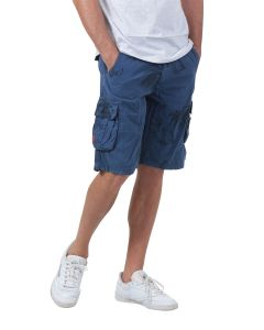 Bermuda Homme GMB Cargo all-over palmiers bleu marine