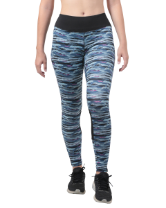 Legging de Sport Femme Imprimé all-over Bleu