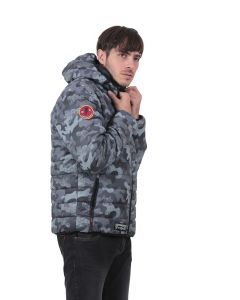 Doudoune Homme GMB all-over gris camouflage