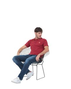 Polo uni manches courtes Homme GMB rouge