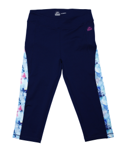 "Navy Girl Cropped Leggings "" Florida Beach"""
