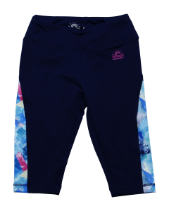 "Navy Girl Cropped Legging ""Florida Beach"""