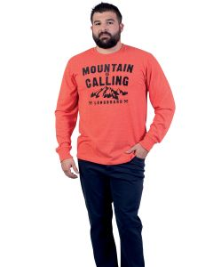 T-shirt Sized homme orange Outdoor Camp vu de face