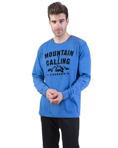 t-shirt longboard homme bleu Outdoor Camp vu de face