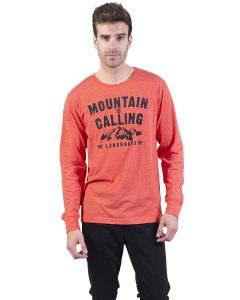 t-shirt longboard homme orange Outdoor Camp vu de face