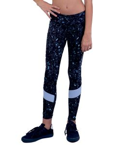 Blue legging with pattern