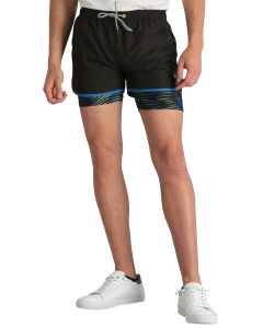 Short sport homme Longboard hybride Just Move noir vu de face