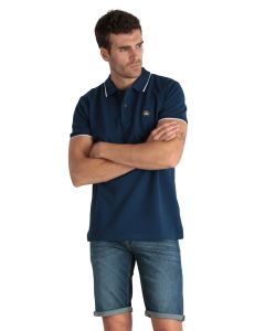 Plain navy men's polo shirt