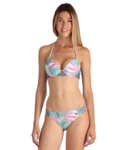 White palm pattern Women Swimsuit 2 pieces