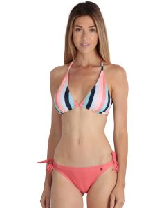 Bi-color coral women's Biarritz 2-piece swimsuit