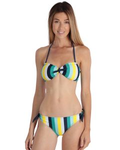 Striped yelow women's Biarritz 2-piece swimsuit