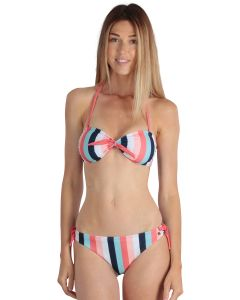 Striped coral women's Biarritz 2-piece swimsuit