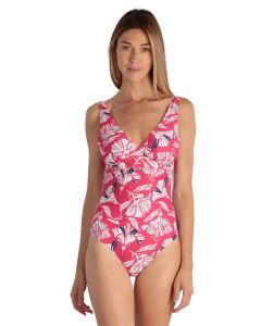 Pink Flowered Women Swimsuit 1 piece