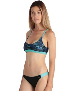 Bright pastel green women's sport 2-piece swimsuit