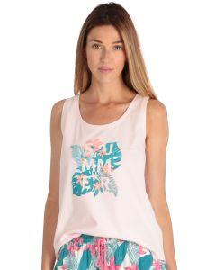 Pink women's tank top Magic Print