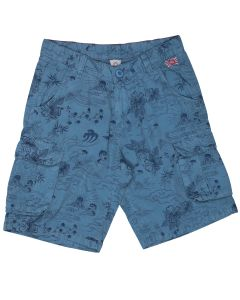 Steel blue boy's cargo bermuda shorts Japan