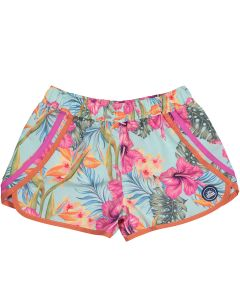 "Light turquoise tropical girl swimming shorts ""Honolulu"""