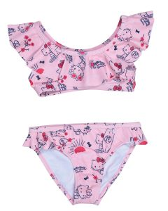 Maillot de bain 2 pièces fillette Hello Kitty rose