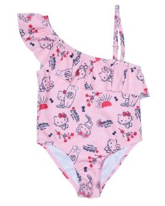 Maillot de bain 1 pièce fillette Hello Kitty rose