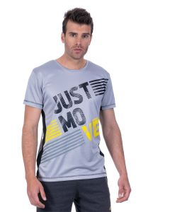 T-shirt homme Running Just Move gris