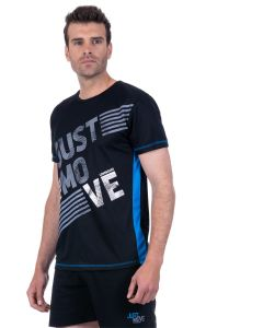 T-shirt homme running manches courtes Just Move noir